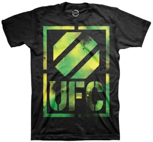 UFC Men's Toxic T-Shirt (Black, Medium) Large