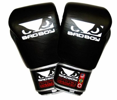 Bad Boy MMA Pro Series Thai II Gloves, Black, 14-Ounce Large