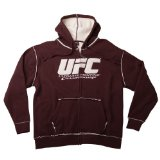 UFC Men's Sherpa Fleece Zip Hoodie (Brown/Cream, X-Large)