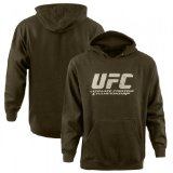 UFC Logo Pullover Hoodie [Army Heather], Large