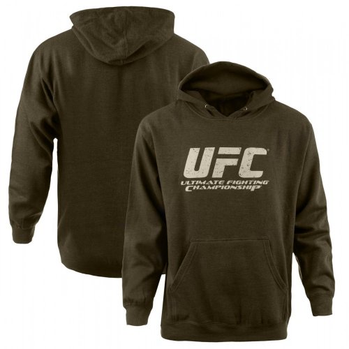 UFC Logo Pullover Hoodie [Army Heather], Large Large