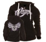 "Venum ""Brazilian Fighters"" Hoody for Women - Zip Up Hoodie -Black (XL)"