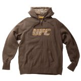 UFC Men's Digi Logo Zip Hoodie (Olive, Medium)