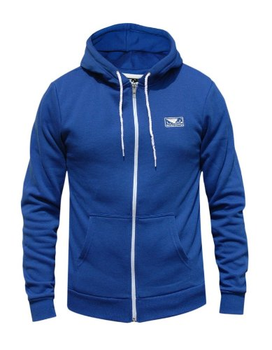 Bad Boy MMA Lifestyle Zip up Hoody Royal Blue - Small Large