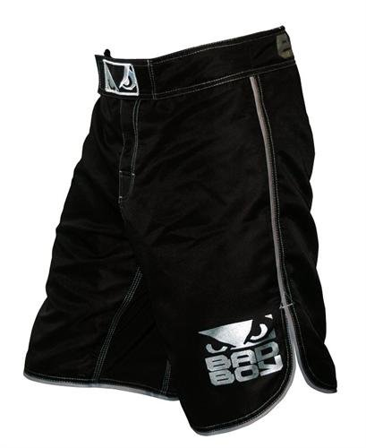 Bad Boy MMA Men's Mma Athletic Shorts, Black/Silver, Large Large