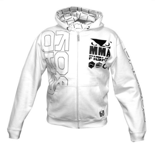 Bad Boy Linha MMA Fight Hoodie - White Large