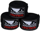 Bad Boy MMA Hand Wrap, Pack of 3 Black ,108-Inch