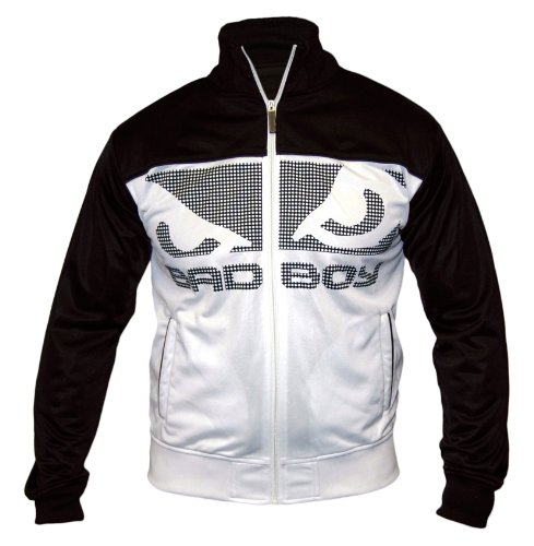 Bad Boy Nemesis Athletic Track Top Jacket - Black/White - L Large