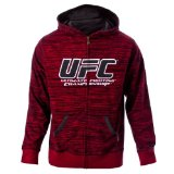 UFC Men's Flame/Black Twisted Zip Up Hoodie (Large)