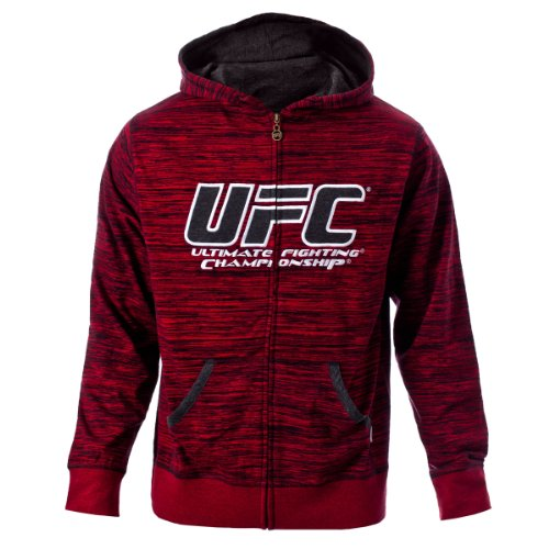 UFC Men's Flame/Black Twisted Zip Up Hoodie (Small) Large