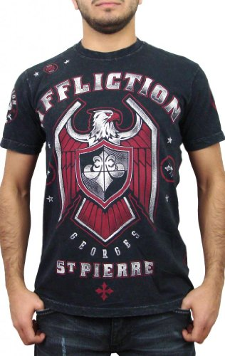Affliction George St Pierre GSP Royal Guard UFC 167 Walk Out T-Shirt XL Black Large