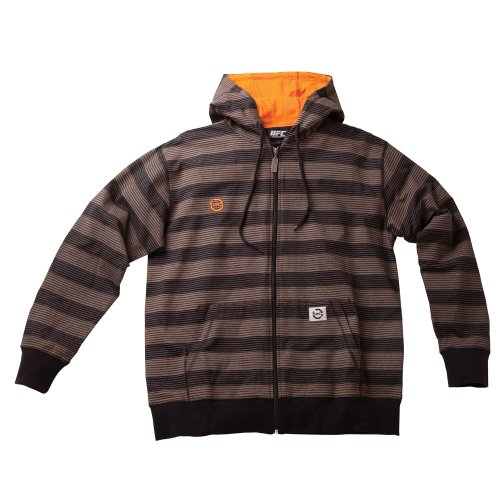 UFC Men's Convict Zip Hoodie (Brown, X-Large) Large