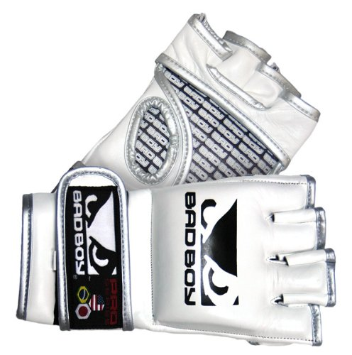 Bad Boy MMA Pro Series Gloves, White, Small/Medium Large