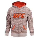 UFC Men's Tan/BrownTwisted Zip Up Hoodie (Medium)