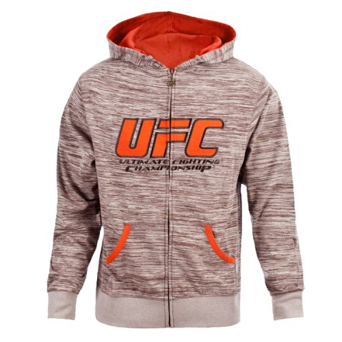 UFC Men's Tan/BrownTwisted Zip Up Hoodie (Medium) Large