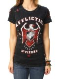 Affliction Women's GSP Royal Guard Georges St Pierre UFC 167 Walkout T-Shirt-XS